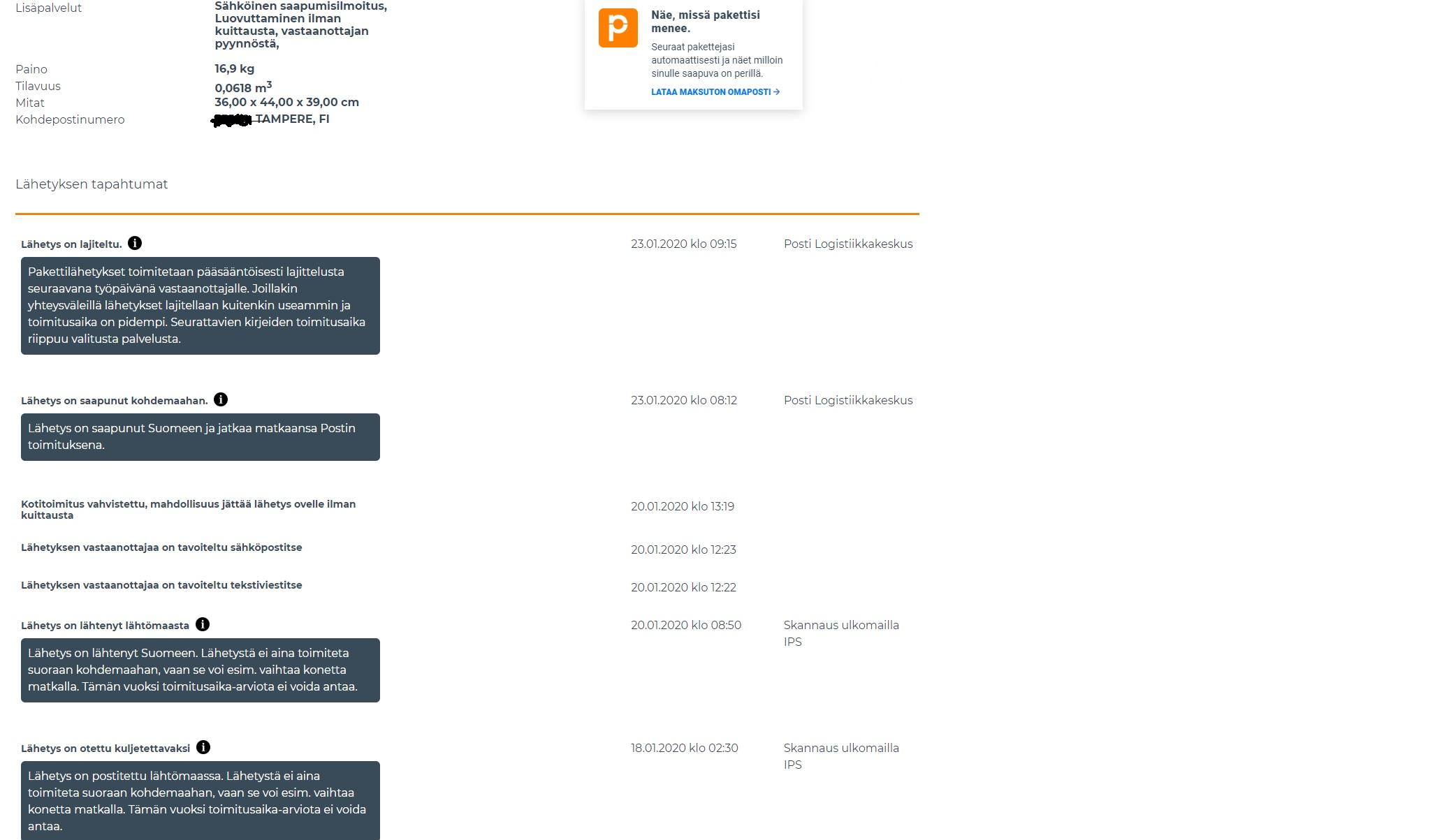 Alkostore24 tilaus tuli 6l tiukkaa 16l väkevää tölkkikamaa 88e postit 26e tilauksen eteneminen.jpg